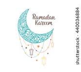 ramadan kareem theme. vector... | Shutterstock .eps vector #440036884