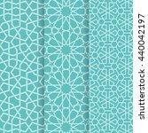 islamic pattern set. 3 vector... | Shutterstock .eps vector #440042197