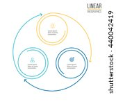 linear infographics. diagram ... | Shutterstock .eps vector #440042419