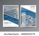 business template for brochure  ... | Shutterstock .eps vector #440042575