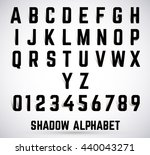 alphabet shadow font set.... | Shutterstock .eps vector #440043271