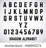 alphabet shadow font set.... | Shutterstock .eps vector #440043271