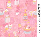 seamless pattern with cute... | Shutterstock .eps vector #440047291