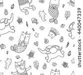 seamless pattern with cute... | Shutterstock .eps vector #440047339