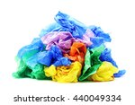 plastic bags isolated on a... | Shutterstock . vector #440049334