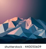 snow mountains peak  banner.... | Shutterstock . vector #440050609