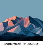 snow mountains peak banner.... | Shutterstock . vector #440050615