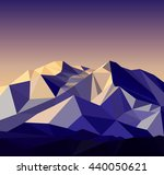 snow mountains peak banner.... | Shutterstock . vector #440050621