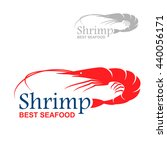 royal red shrimp icon with... | Shutterstock .eps vector #440056171