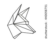 geometric animal wolf head... | Shutterstock . vector #440058751
