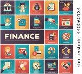 set of modern vector finance ...   Shutterstock .eps vector #440060134