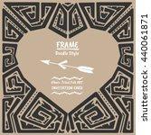 doodle heart vector tribal...   Shutterstock .eps vector #440061871