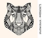 tiger with abstract pattern....   Shutterstock .eps vector #440063671