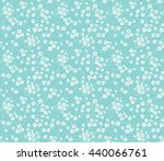 Stock vector cute pattern in small flower small white flowers blue background ditsy floral background the 440066761