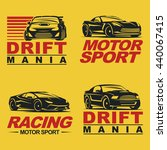 set of four sport cars logo... | Shutterstock . vector #440067415