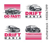 set of four sport cars logo ... | Shutterstock . vector #440067499