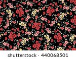 seamless flower pattern. vector ... | Shutterstock .eps vector #440068501
