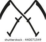 crossed scythes | Shutterstock .eps vector #440071549