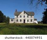 beautiful  big  abandoned white ... | Shutterstock . vector #440074951