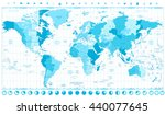 world map with standard time... | Shutterstock .eps vector #440077645