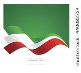 mexico abstract ribbons flag... | Shutterstock .eps vector #440082724