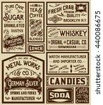 mega pack old advertisement... | Shutterstock .eps vector #440086675