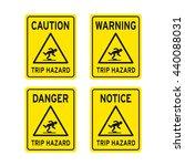 caution warning danger notice... | Shutterstock .eps vector #440088031