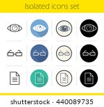 ophthalmology icons set. flat... | Shutterstock .eps vector #440089735