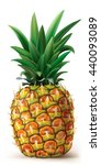 pineapple on a white. vector... | Shutterstock .eps vector #440093089