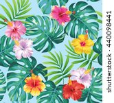 tropical seamless pattern with... | Shutterstock .eps vector #440098441