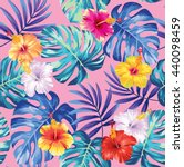 tropical seamless pattern with... | Shutterstock .eps vector #440098459