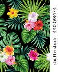 tropical seamless pattern with... | Shutterstock .eps vector #440098474
