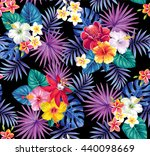 tropical seamless pattern with... | Shutterstock .eps vector #440098669