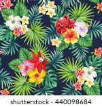 tropical seamless pattern with... | Shutterstock .eps vector #440098684