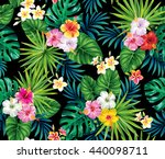 tropical seamless pattern with... | Shutterstock .eps vector #440098711