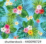 tropical seamless pattern with... | Shutterstock .eps vector #440098729