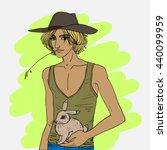 cartoon style drawn vector... | Shutterstock .eps vector #440099959
