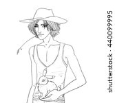 cartoon style drawn vector... | Shutterstock .eps vector #440099995