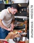 young handsome man preparing... | Shutterstock . vector #44010178