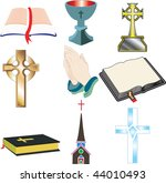 church icons 2 vector ... | Shutterstock .eps vector #44010493