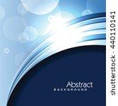 vector blue background.... | Shutterstock .eps vector #440110141