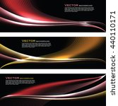 abstract shiny banners. red and ... | Shutterstock .eps vector #440110171