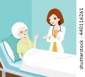 doctor visiting and talking... | Shutterstock .eps vector #440116261