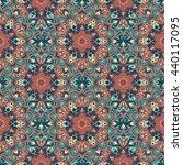 boho style flower seamless... | Shutterstock .eps vector #440117095