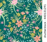 seamless ditsy. floral pattern. ... | Shutterstock .eps vector #440131291