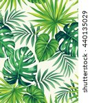 tropical seamless pattern with... | Shutterstock .eps vector #440135029