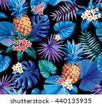 hawaiian seamless pattern with... | Shutterstock .eps vector #440135935