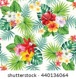 tropical seamless pattern with... | Shutterstock .eps vector #440136064