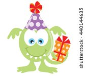 birthday monster vector... | Shutterstock .eps vector #440144635