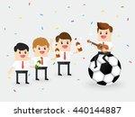 teamwork of businessman or... | Shutterstock .eps vector #440144887